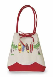 "Surfboards ""Surf Safari"" Drawstring Tote Bag - 32115-000"