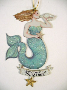 """Magical Mermaid Tin Sign """"Welcome to Paradise"""" - 33114A"""