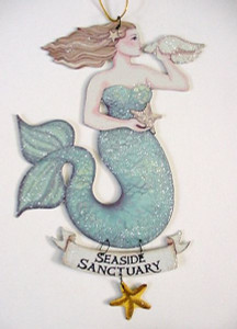 "Magical Mermaid Tin Sign ""Seaside Sanctuary"" - 33114B"