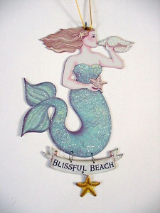 "Magical Mermaid Tin Sign ""Blissful Beach"" - 33114D"