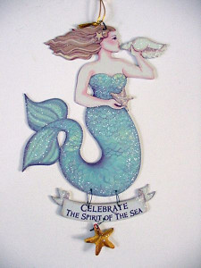 "Magical Mermaid Tin Sign ""Celebrate"" - 33114E"