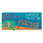 Sun Surf Paradise Wood Sign 33615P