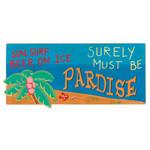 Sun Surf Paradise Wood Sign 33615P
