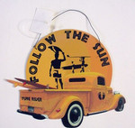 Surfing Theme Tin Sign - Follow the Sun - 34314C