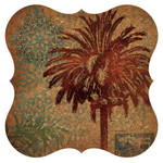Cork Surface Saver Palm Tree Design Set of Two 3CBT4586