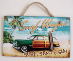 Surf Wagon Wood Sign - 41-807