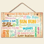 "Beach Sign ""Welcome to the Beach"" - 41-825"