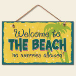 Welcome to the Beach Wood Sign 41-838