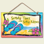"Flip Flops Sign ""Sandy Toes & Salty Kisses"" - 41-848"