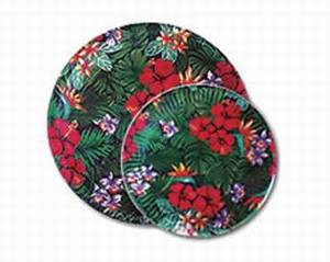 "Lush Tropical Paper Plates 10 1/2""   - 47207-000"