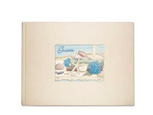 Sea Shells Theme Guest Book - 49-008