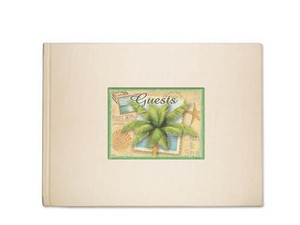 "Palm Tree ""Sun and Sea"" Theme Guest Book - 49-168"