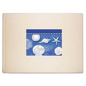 Guest Book Blue Water Shells 49-169