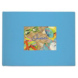 Beach Vacation Theme Guest Book 49-174