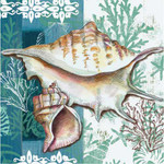 Shells of the Sea Paper Cocktail Napkins Pk of 20 - 4NC4609