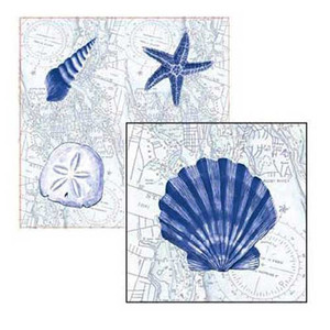 Ocean Breeze Square Dinner Paper Napkin 4ND1222