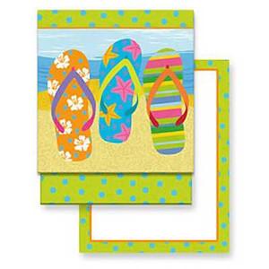 Flip Flop Parade Matchbook Memo Notepad 50-114