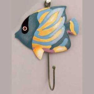 Blue Fish Metal Wall Hook 51023B