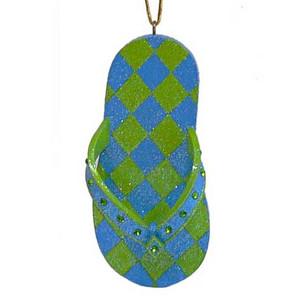 Flip Flop Tropical Colors Christmas Ornament 55-90926