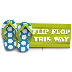 Flip Flop This Way Wood Sign 60183G