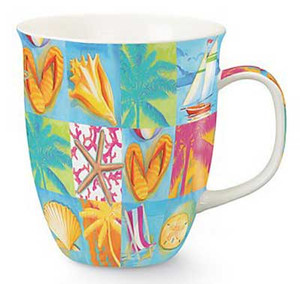 Harbor Mug Beach Patchwork 718-04