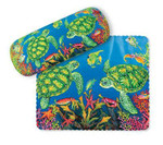 "Sea Turtle Eyeglass Case with Cleaning Cloth ""Turtle Reef - 804-49"