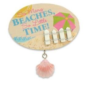 "Beach Theme Magnet ""So Many Beaches"" - 828-47"