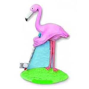 Pink Flamingo Golfer Golfing Magnet - 83-540