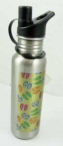 Flip Flops Design Stainless Steel Water Bottle - 003730