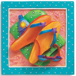 Flip Flops Beach Time Magnet 832-25