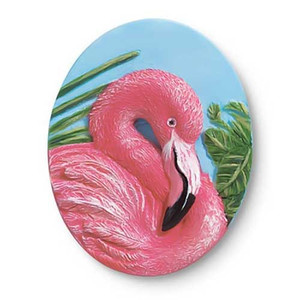 Oval Pink Flamingo Magnet 832-26
