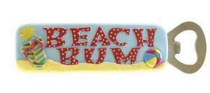 Flip Flops Beach Bum Magnetic Bottle Opener - 834-63