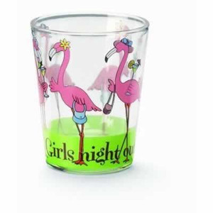 "Pink Flamingo Shot Glass ""Girls Night Out"" - 839-27"