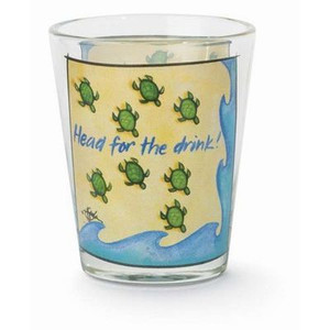 "Sea Turtle Shot Glass ""Head for the Drink"" - 839-76"