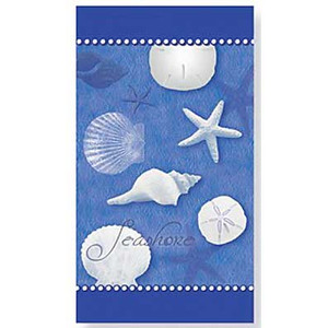 Blue Water Shells Paper Guest Towels 30 Pack 848-74