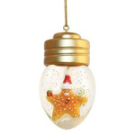 Starfish Christmas Ornament Snow Globe Style - 856-09