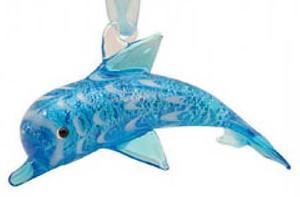Glass Ornament Dolphin 856-88