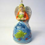 Angel Bell Sea Life Ornament Ceramic 860-32