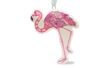 Coastal Daydream Pink Flamingo Ceramic Ornament - 868-34