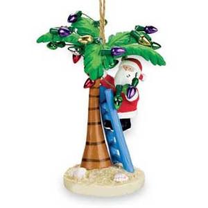 Santa Palm Beach Christmas Ornament 871-01