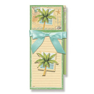 "Palm Tree Magnetic List Pad and Magnet Set ""Sun and Sand"" - 91-092"