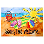 Sandy Feet Welcome Floor Mat 9806M