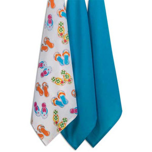 Beach Time 3 Piece Flour Sack Towel A8249