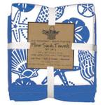 Blue Shells 3PC Flour Sack Towel Set A8357