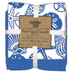 Blue Shells 3PC Flour Sack Towel Set A8357