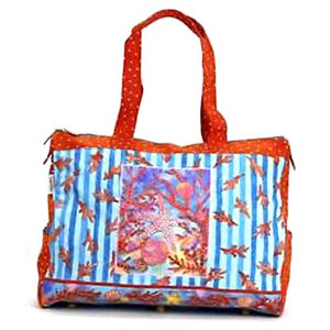 Coral Beach Travel Large Tote Bag  -AT7302