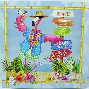 Pink Flamingo Beach Signs Greeting Card - Birthday - BBQ23386