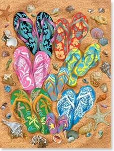 "Flip Flops Birthday Card ""Flip Flop Frenzy"" - BDG13703"