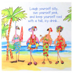 Pink Flamingo Greeting Card - Birthday For Her - BDQ23201