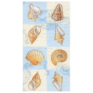"Sea Shell ""Sounds of the Sea"" Paper Guest Towels - BF443440"